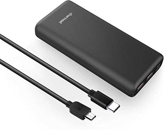 Charmast Power Bank Black 26800mAh USB Power Deliver 18W Portable Charger QC 3.0 Quick Charge USB C Battery Pack with 3 Inputs /& 4 Outputs Compatible with iPhone Samsung Pixel Huawei etc.