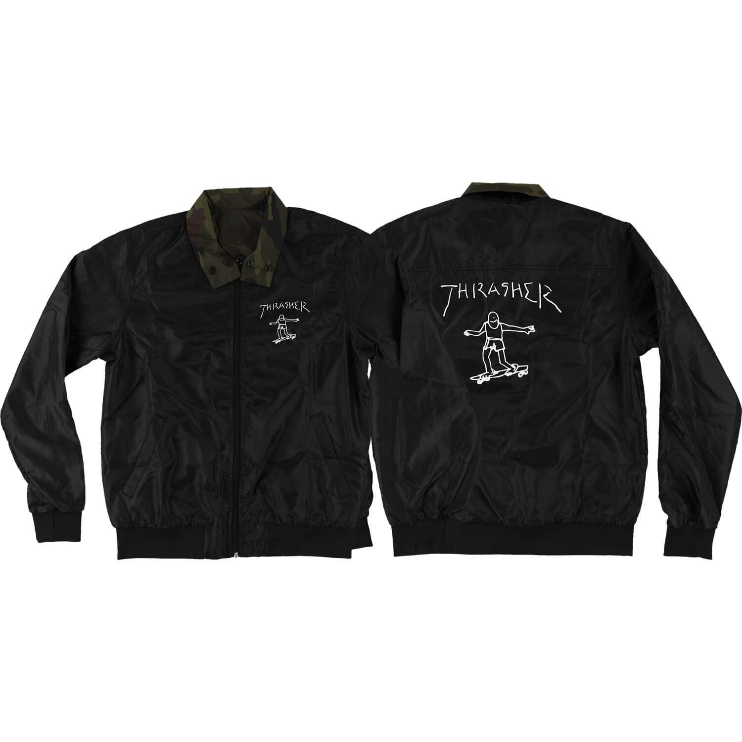 Thrasher Magazine Gonz Reversible Black//Camo Coaches Jacket Small