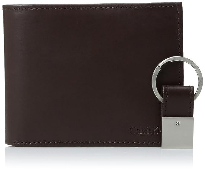d330c2f3c134 Calvin Klein Men s RFID Blocking Leather Bifold Wallet with Key Fob ...
