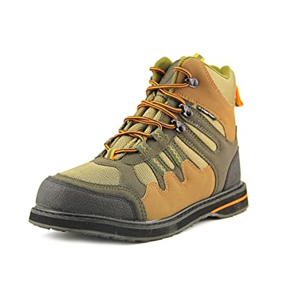 Frogg Toggs Anura Sticky Rubber Wading Shoe, 7, Olive/Camel
