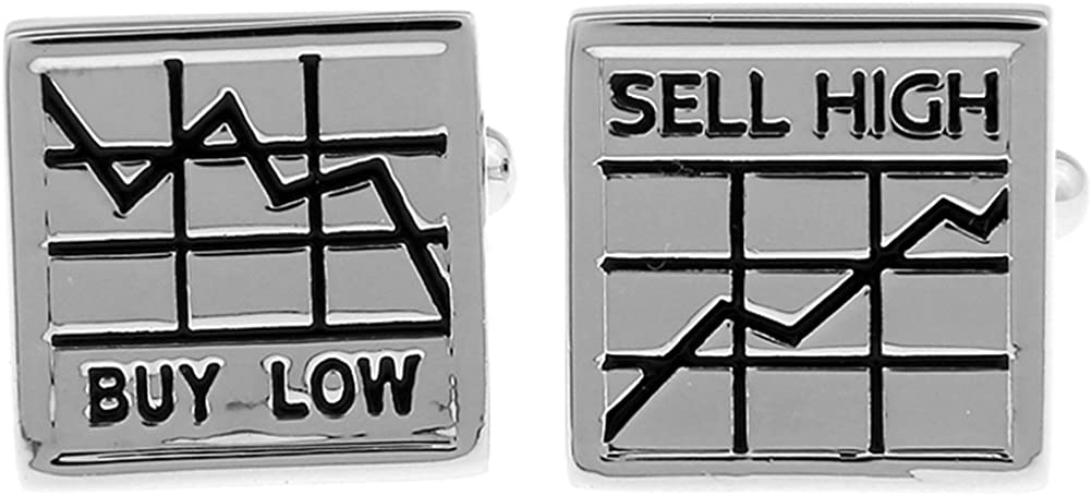Stock Market Buy Low Sell High Financial Consultant Investment Banking Cufflinks