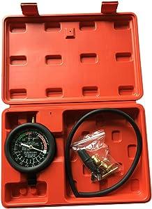 MILLION PARTS Fuel Pump & Vacuum Tester Gauge Kit Leak Carburetor Valve Pressure Diagnostics Test Tool Set fit for Car Truck with Case