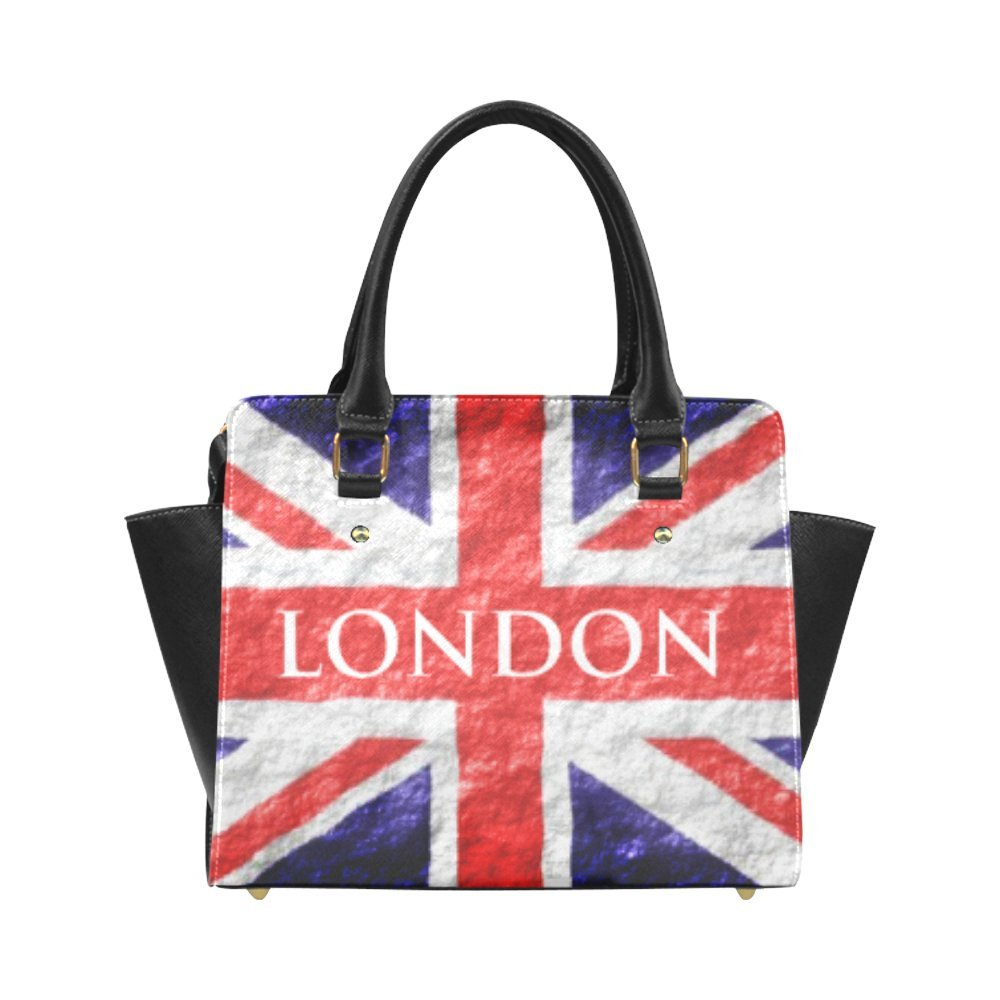 5e4304f883 Custom Union Jack Flag Fashion Shoulder Bag PU leather Women s Handbags   Handbags  Amazon.com