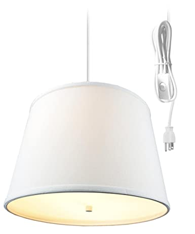 2 light plug in pendant light by home concept hanging swag lamp rh amazon com Two-Way Wiring 2 Lights Wiring Two Lights to a Light Switch