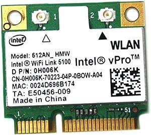 Intel Link 5100 Half 512an_hmw Mini Pci-e Wireless Wifi Card 802.11 a B G N Cy256 H006k for Dell Laptop