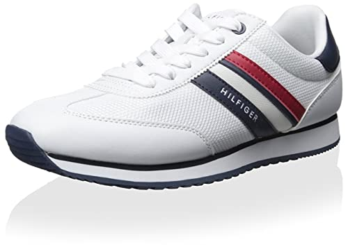 Tommy Hilfiger Men's White Mallorca Sneakers Athletic Shoes male