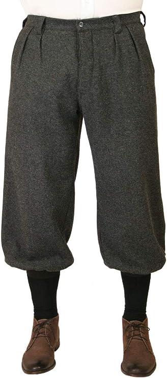 Wool Blend Herringbone 1920s Tweed Knickers