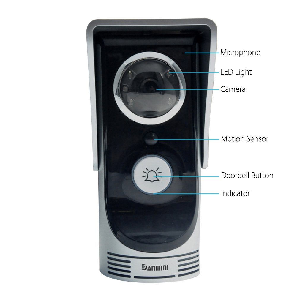 Buy Docooler Wifi Video Door Phone Wireless Digital Smart Peephole Circuit Diagram As Well Ring Doorbell Box Contents On Wiring Viewer Camera 20 Megapixel Night Vision Intercom For Home Security Monitoring