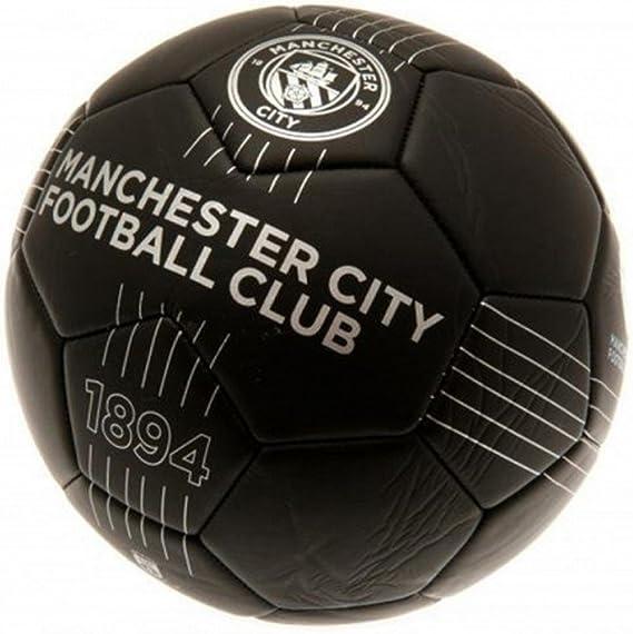 Manchester City FC - Balón de fútbol de piel: Amazon.es: Ropa y ...