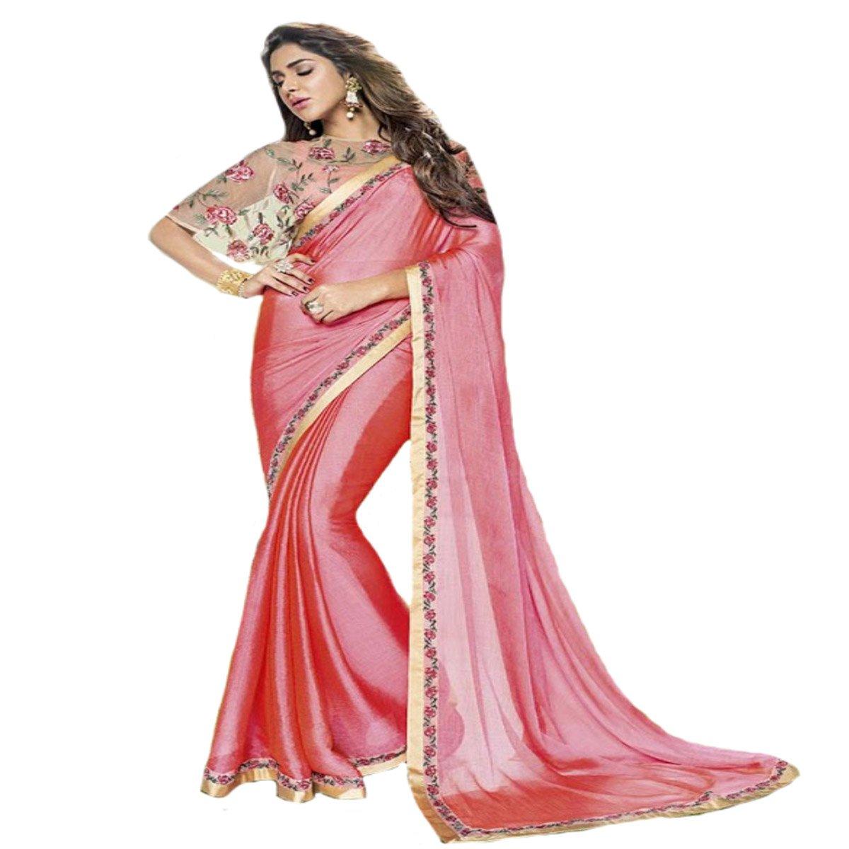 Indio Diwali boda ceremonia Party Wear Sari Mujeres saree funda ...