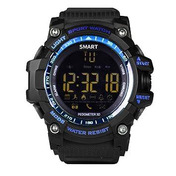 Bluetooth Smart reloj v8 Full Circular Protector de Smartwatch Pulsera Soporte Para Tarjeta SIM y TF para Apple iOS Android Teléfono Blue EX16: Amazon.es: ...