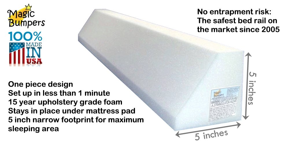 [2 Pack] Magic Bumpers Child Bed Safety Guard Rail 42 Inch - One Piece Design by Magic Bumpers (Image #6)