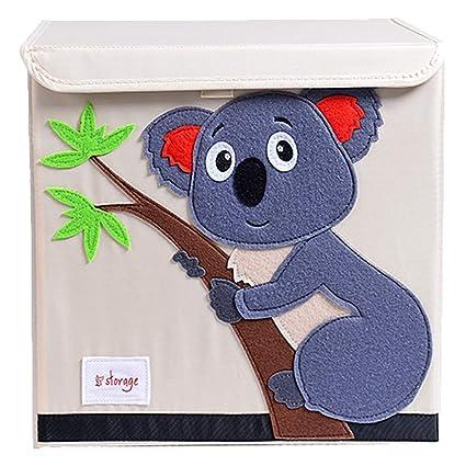 Tsingle scatola porta oggetti con coperchio per bambini