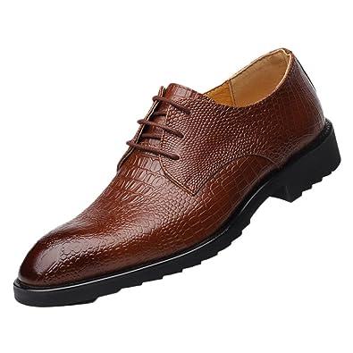 Zapatos Hombres Formal Para Tie Commerce Cuero Marrón Suave De WHYE29eDI