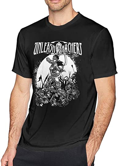Unleash the Archers Mens Short Sleeve T-Shirt Black Cotton Cool Tee Gift New