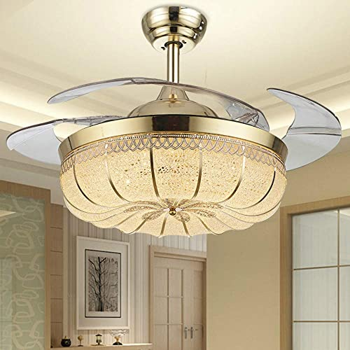 YEELED Light 42 Inch Invisible Reversible Ceiling Fan