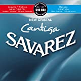 Savarez Classical Guitars Strings New Cristal Cantiga Set 510CRJ Mixed Tension red-blue