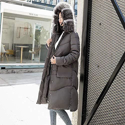 coton d'hiver pour M avec gris duvet Zhrui en de femme couleur capuche Sweat gris chaud taille SExWwCq8a