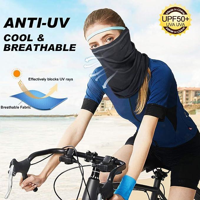 Sun Protection Lightweight Windproof Breathable Fishing Hiking Running Cycling Black Pok-Emon Pika-Chu Supe-Rman Neck Gaiter Face Scarf Mask-Dust Men /& Women