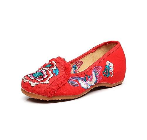 Bordado Zapatos/Alpargatas/ Merceditas/Zapatos Bordados, Zapatos, Zapatos, Fondos Suaves y Zapatos Casuales: Amazon.es: Zapatos y complementos