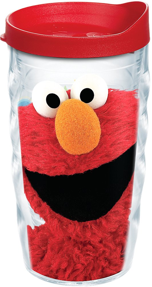 Tervis 1243114 Sesame Street-Elmo Insulated Tumbler with Wrap and Red Lid, 10Oz Wavy, Clear by Tervis (Image #1)