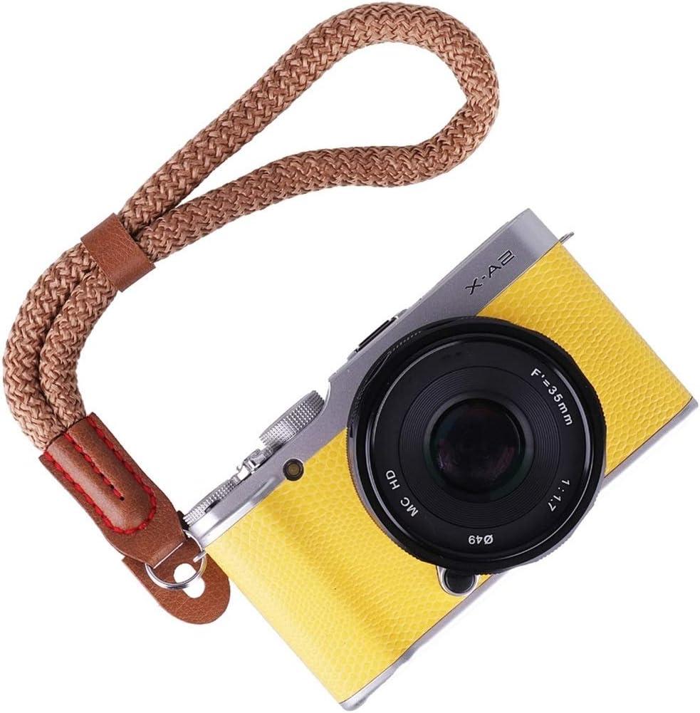 Camera Bags Cases Vintage Cotton Soft Hand Strap Grip Wrist Strap for DSLR//SLR Cameras Color : Brown Brown