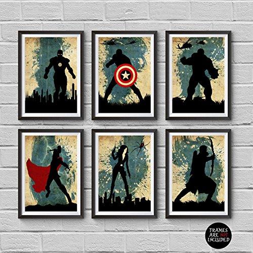 The Avengers Minimalist Poster Set 6 Minimalist Poster Marve