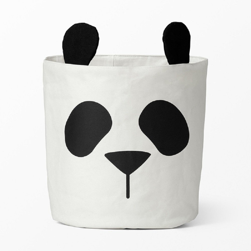 YOHEE Panda Animal Storage Bag Baby Kids Toy Clothes Organizer Canvas Laundry Basket Can Stand Room Decor