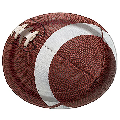 Football Oval Paper Plates, (8 Oval Bowl)