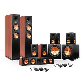 klipsch surround sound speakers. klipsch 7.2 rp-280 reference premiere surround sound speaker package with r-115sw subwoofers speakers n