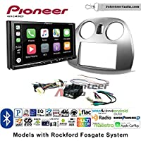 Volunteer Audio Pioneer AVH-2440NEX Double Din Radio Install Kit with Apple CarPlay, Android Auto and Bluetooth Fits 2006-2012 Mitsubishi Eclipse With Rockford Fosgate Systems