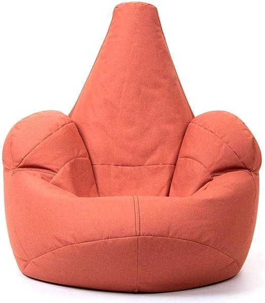 Icon Großer Armsessel Sitzsack, Terrakotta Orange, 102cm x 98cm, Großer Luxussitzsack, Erwachsene Riesensitzsack, Indoor Outdoor Sitzsäcke Sitzkissen