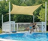 ShelterLogic 25723 16'x16′ Square Sand Sun Shade Sail, Outdoor Stuffs