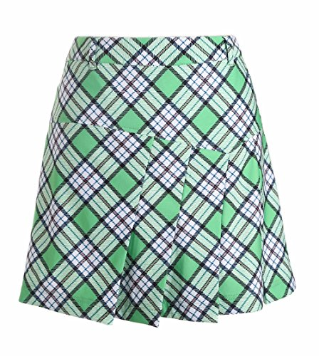 SVG Plaid Pleated Summer Golf Skorts For Women