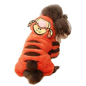 Amazon.com: Disfraz de tigre para perro, divertido, disfraz ...