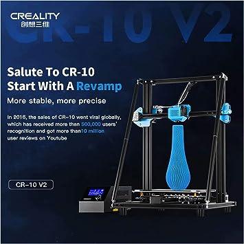 Laecabv Creality CR-10V2 3D Printer Impresora 3D - Compatible con ...
