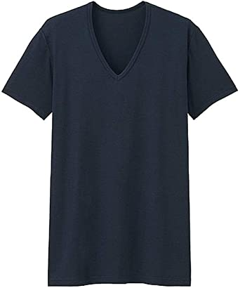 UNIQLO Men HEATTECH Short Sleeve V Neck T-shirt from Japan NWT