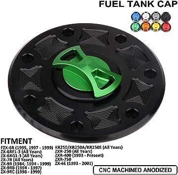 Kawasaki Quick Release Billet Keyless Fuel Gas Tank Cap Lid ZXR-400 L Model