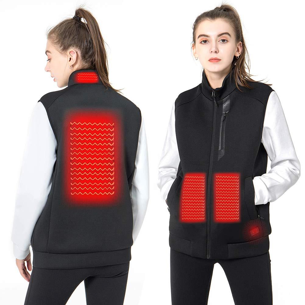 DEKINMAX Women's Heated Vest Lightweight Slim Fit Insulated USB Electric Heating Winter Vest (Power Bank not Included) (L) by DEKINMAX
