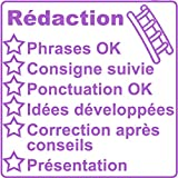 Tampon Grille de Correction - Rédaction (échelle) - Grand Format 5x5cm. Violet