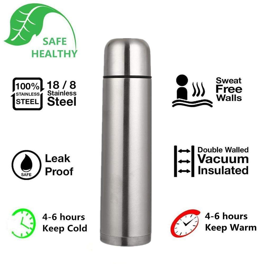 17oz Vacuum Insulated Stainless Steel Water Bottle Double Wall Beverage Bottle Thermal Flask Travel Mug BPA Free Stainless Steel Water Bottle