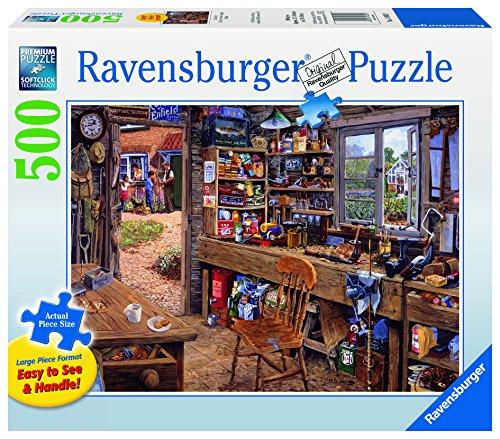 Ravensburger Dad'S Shed - 500 Pieces Large Format Puzzle - Adult Puzzles 500 Pieces