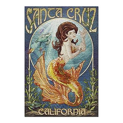 Santa Cruz, California - Mermaid (Premium 500 Piece Jigsaw Puzzle for Adults, 13x19, Made in USA!): Toys & Games