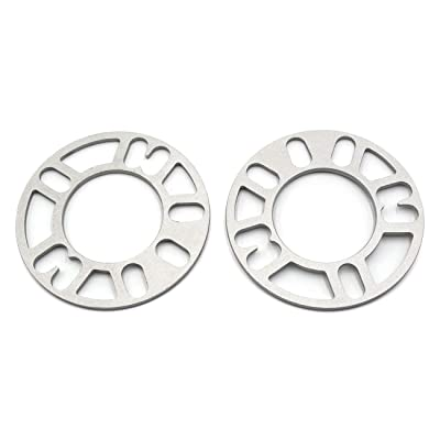 LU HWN 4X4 Universal Wheel Spacers 5mm Thick, 4 & 5 Lug for PCD from 98 to 120mm, 2 Pack: Automotive