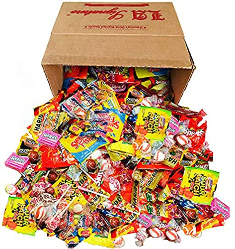 HUGE Assorted Candy PARTY MIX BOX 6.25 LBS/100 OZ Over 250 Individually Wrapped Candies of All Time America's Most Favorite Assorted Candies, Gummies, Pops & MORE