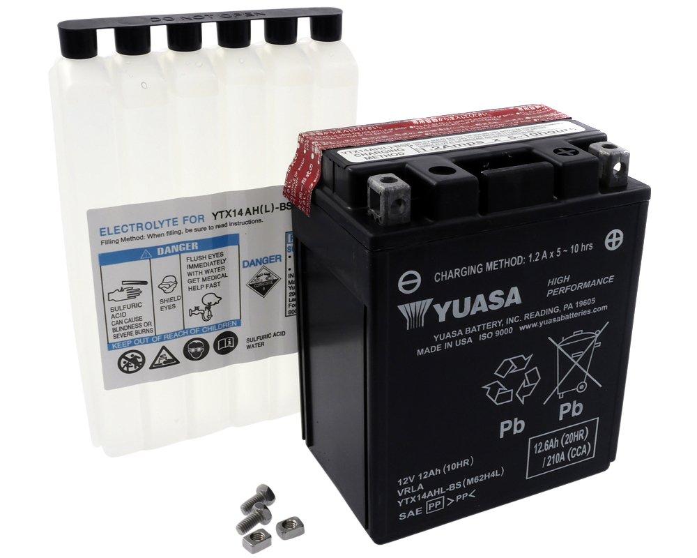 Batteria YUASA - YTX14AHL-BS esente da manutenzione per MOTO GUZZI Breva 750 ccm anno 05