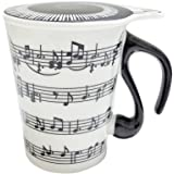 Giftgarden Unique Coffee Mugs with Lid Staves Music Notes