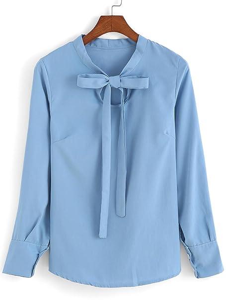 De las mujeres con cordones Arco Cielo Azul Blusa