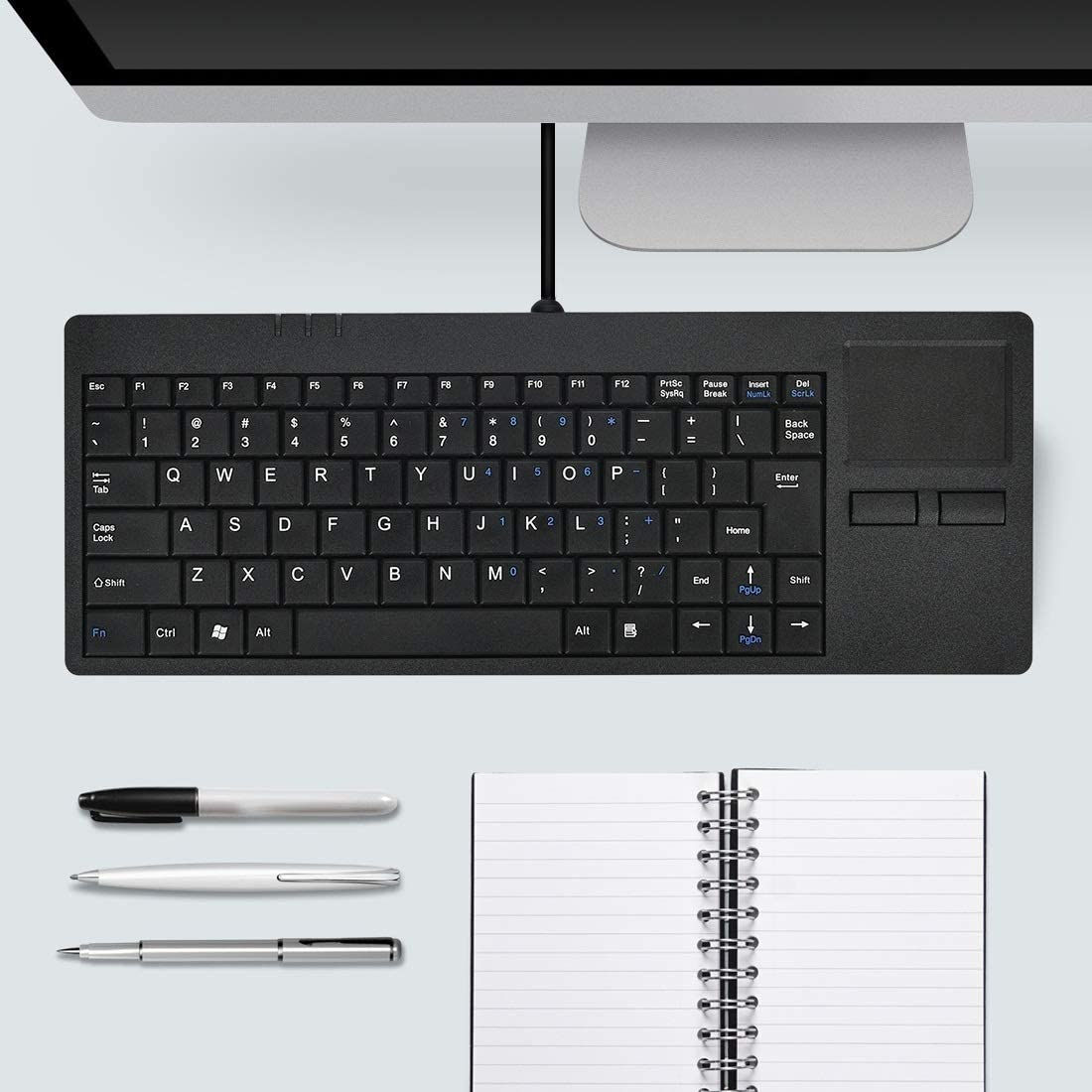 Computer Keyboard MC-818 82 Keys Touch-pad Ultra-Thin Wired Computer Keyboard Wired Keyboard