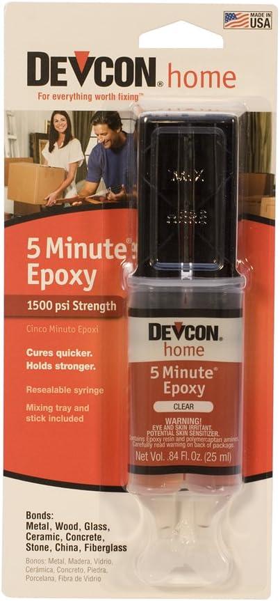 Devcon Epoxy, 5 Minute Epoxy, 1 Ounce Syringe | GLU-720.80